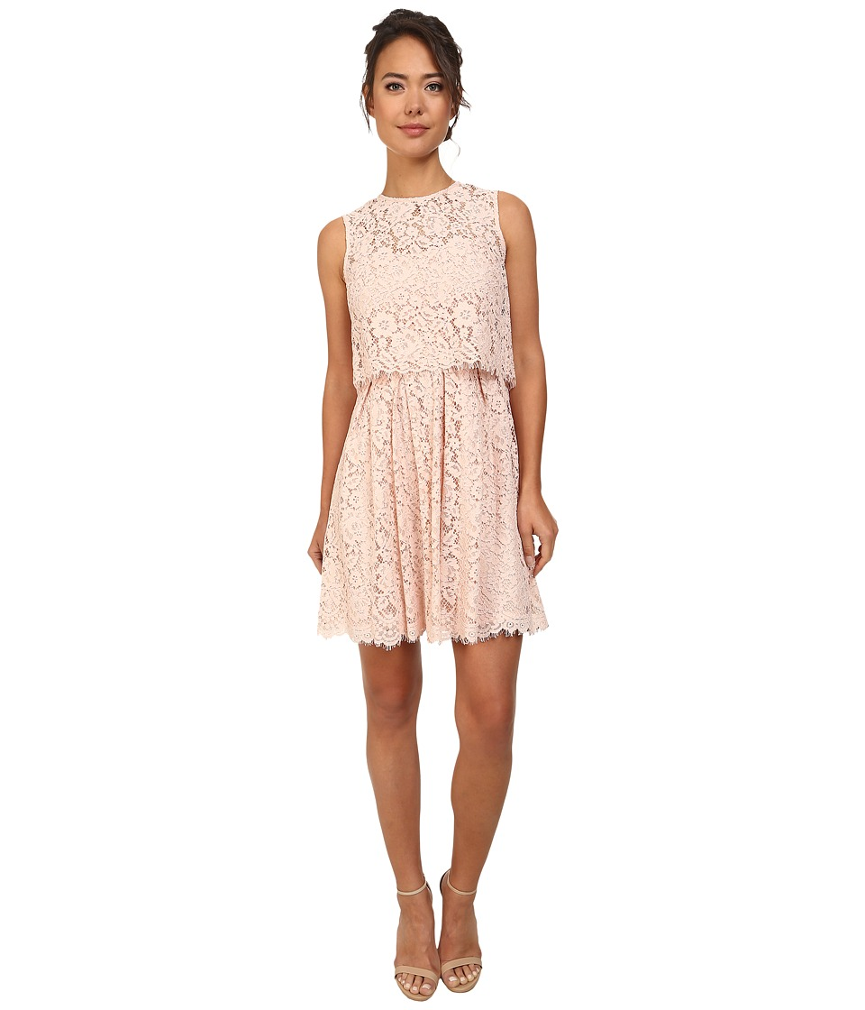 Donna Morgan - Lace Popover Dress (Chantilly) Women