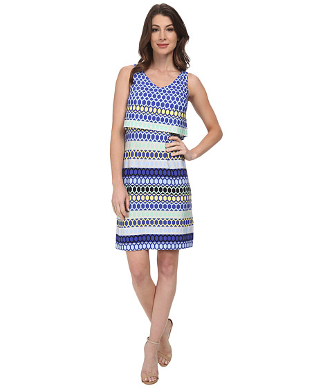 Donna Morgan - Jersey Sleeveless Popover (Playground Multi) Women's Dress