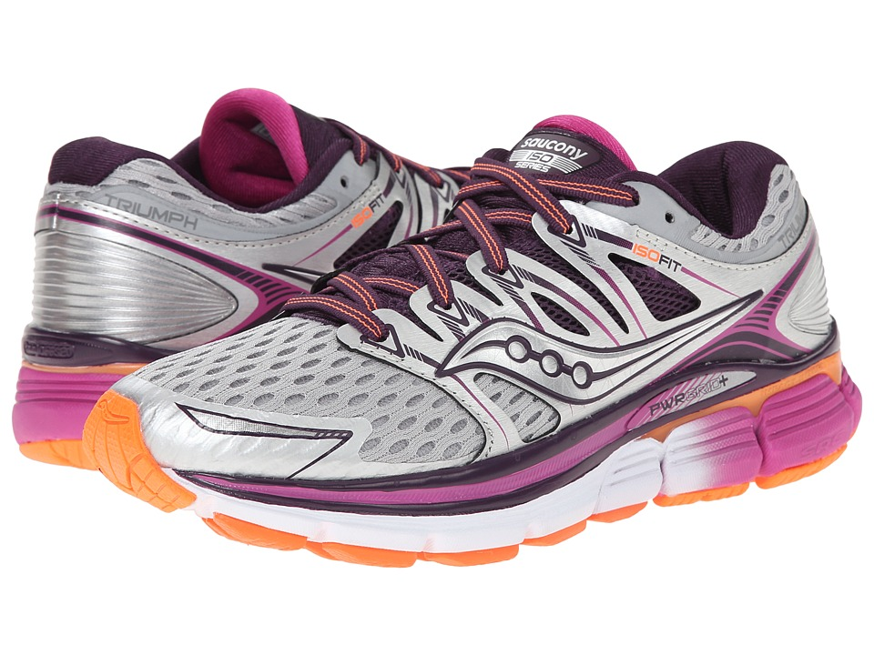 Saucony - Triumph ISO (Silver/Purple/Orange) Women