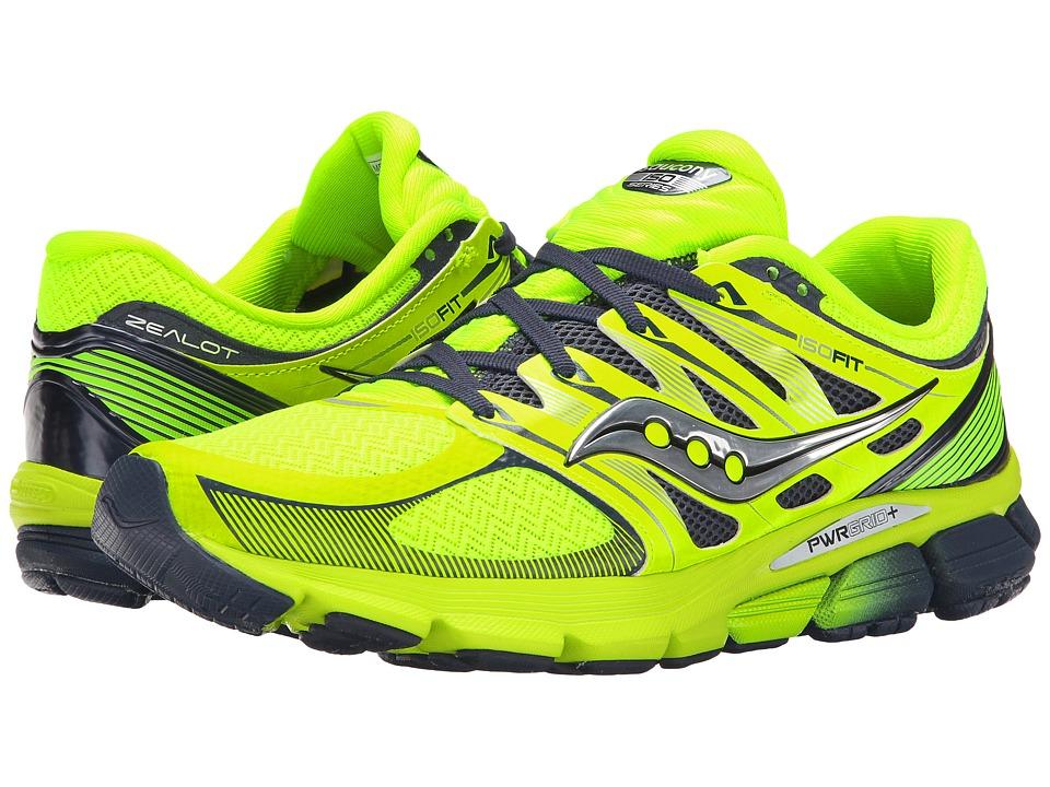 Saucony - Zealot ISO (Citron/Navy) Men's Running Shoes