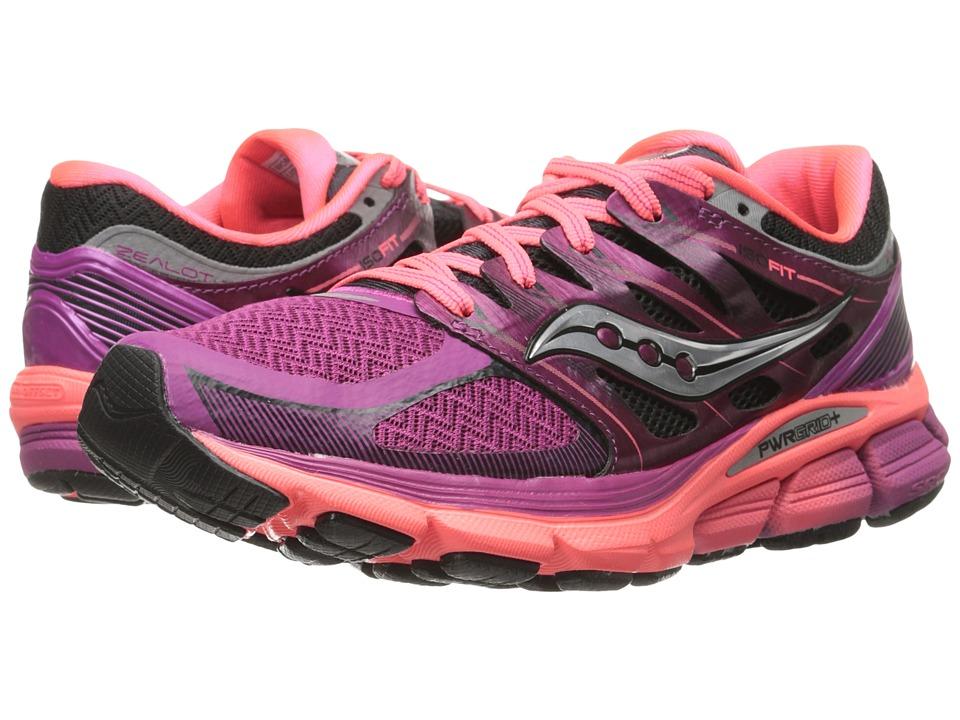 Saucony - Zealot ISO (Magenta/Coral) Women's Running Shoes