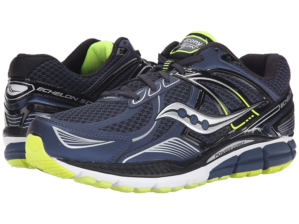 Saucony - Echelon 5 (Navy/Black) Men's Running Shoes