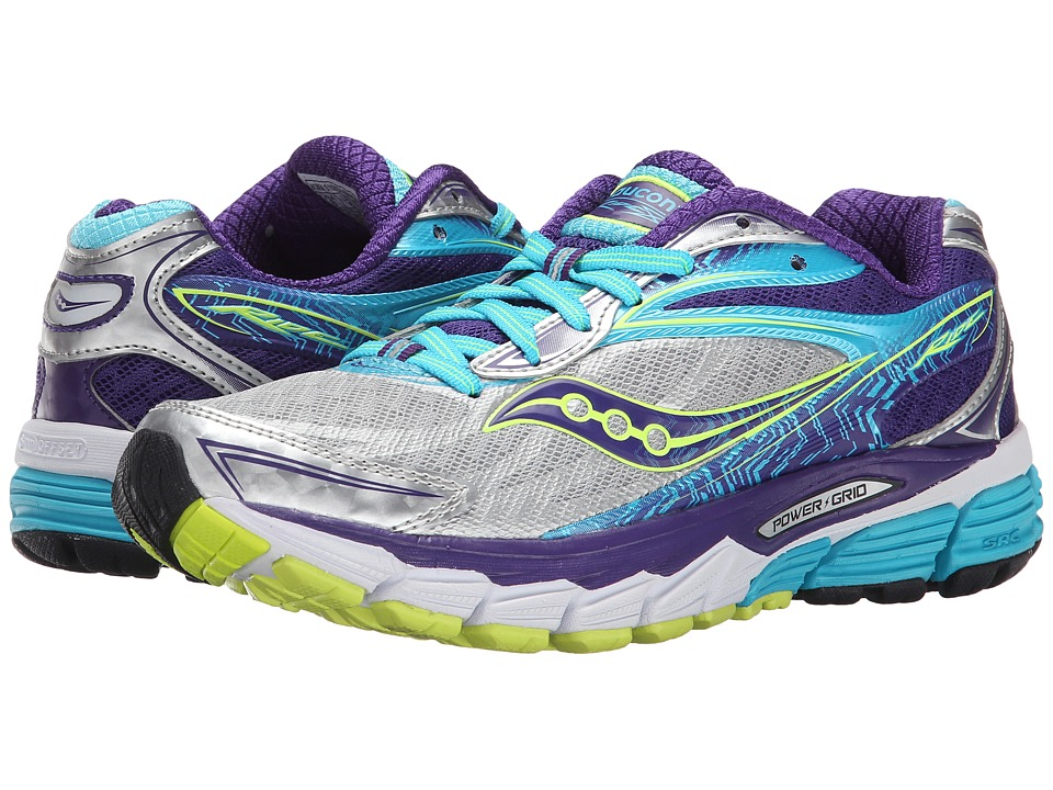 Saucony - Ride 8 (Silver/Purple/Blue) Women's Running Shoes