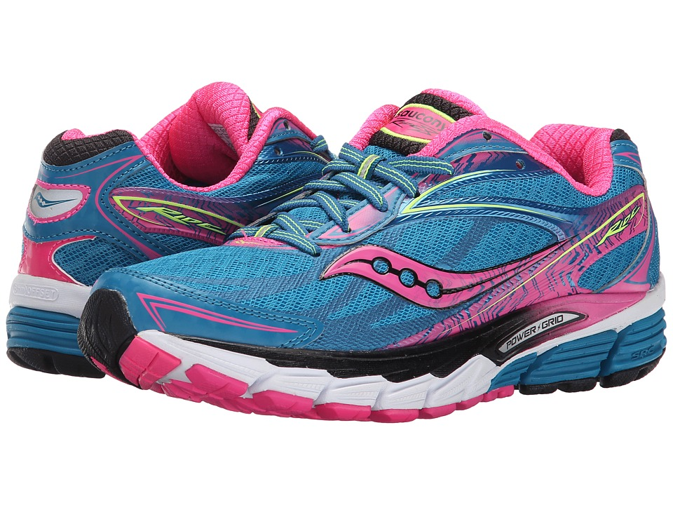 Saucony - Ride 8 (Deepwater/Violet/Slime) Women's Running Shoes