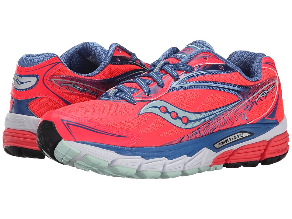 Saucony - Ride 8 (Coral/Blue/Sea) Women's Running Shoes