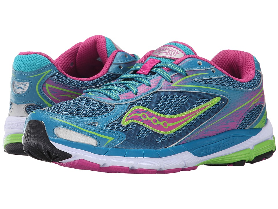 Saucony Kids - Ride 8 (Little Kid/Big Kid) (Turquoise) Girls Shoes