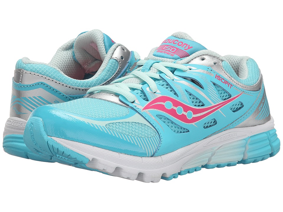 Saucony Kids Zealot (Big Kid) (Turquoise/Silver/Vizi Coral) Girls Shoes