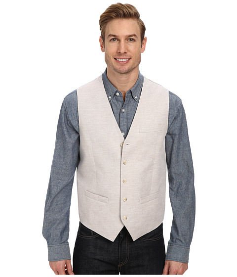 Perry Ellis - Linen Suit Vest (Natural Linen) Men's Vest
