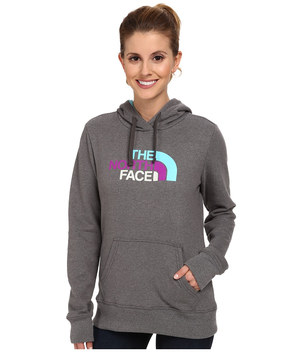 The North Face - Half Dome Hoodie (Charcoal Grey Heather/Fortuna Blue Multi Print) Women