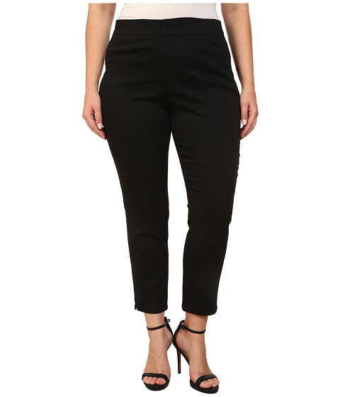 NYDJ Plus Size - Plus Size Millie Ankle Pant (Black) Women