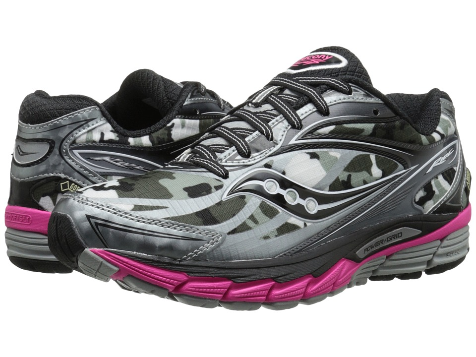 Saucony - Ride 8 GTX (White/Black/Pink) Women's Running Shoes