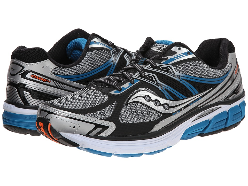 Saucony - Omni 14 (Silver/Blue) Men's Running Shoes