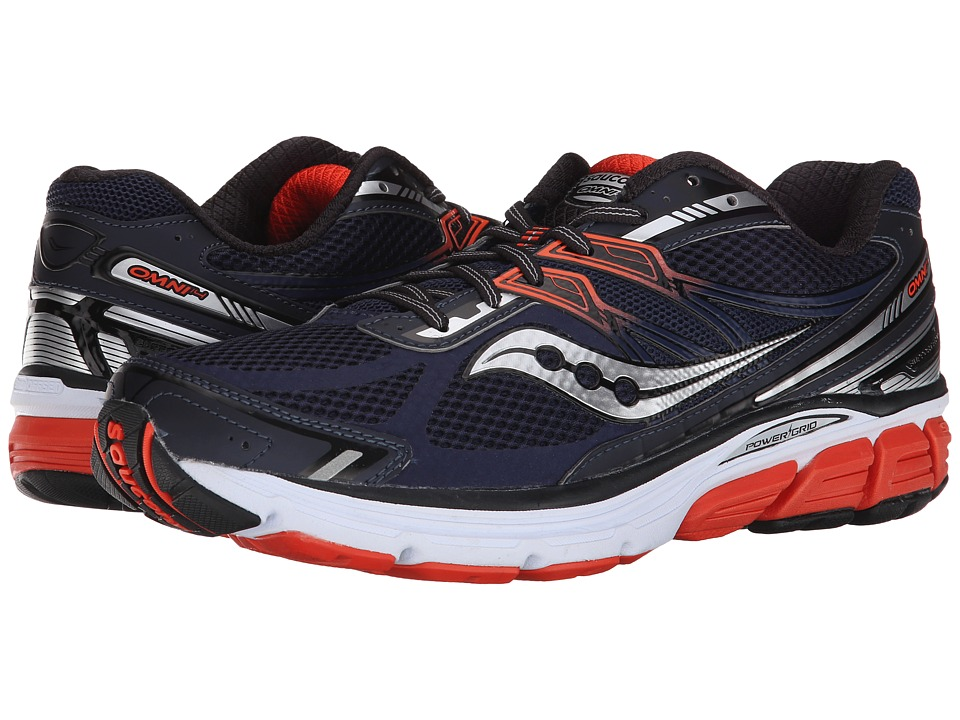 Saucony - Omni 14 (Navy/Red) Men's Running Shoes