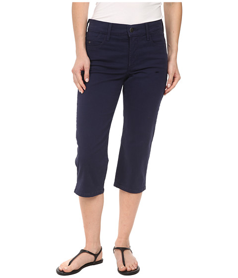 NYDJ Petite - Petite Ariel Crop Twill in Oxford Blue (Oxford Blue) Women's Casual Pants