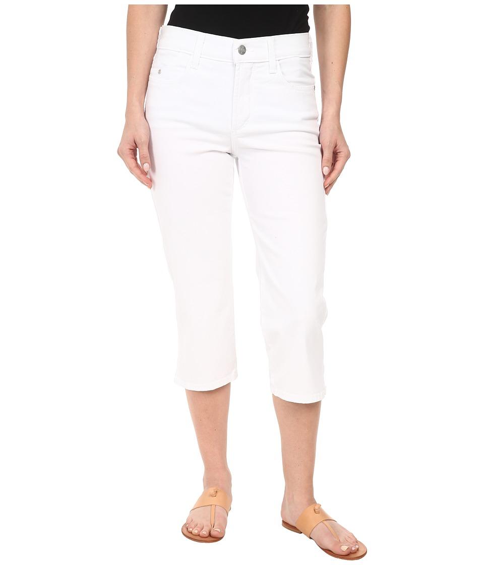 NYDJ Petite - Petite Ariel Crop Twill in Optic White (Optic White) Women