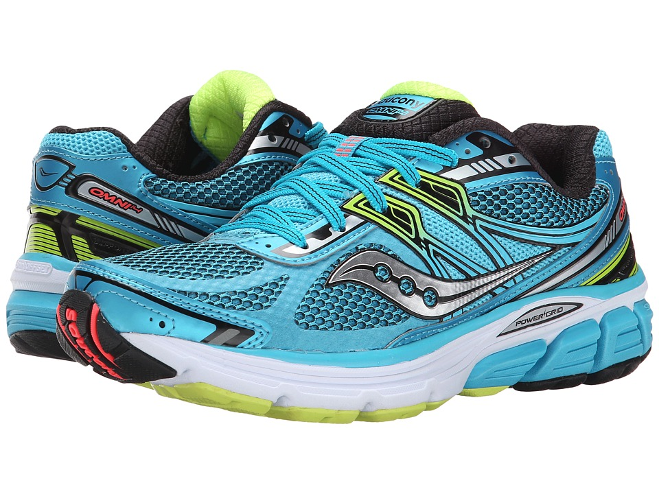 Saucony - Omni 14 (Blue/Black/Citron) Women's Running Shoes