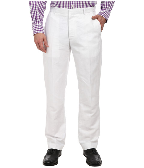 Perry Ellis - Linen Dress Pant (Bright White) Men's Dress Pants