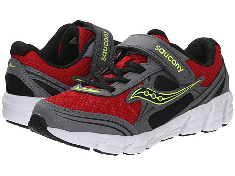 Saucony Kids - Kotaro 2 A/C (Little Kid/Big Kid) (Red/Grey/Citron) Boys Shoes