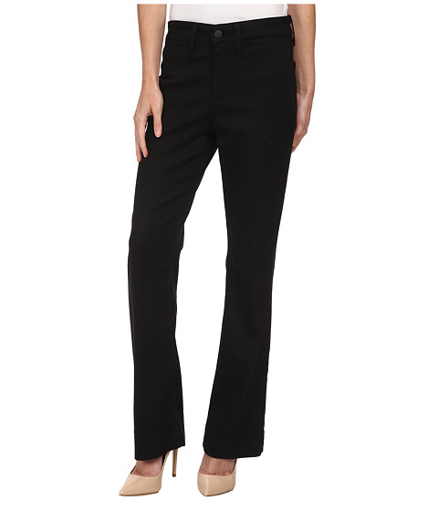 NYDJ Petite - Petite Michelle Trouser Slick Twill in Black (Black) Women