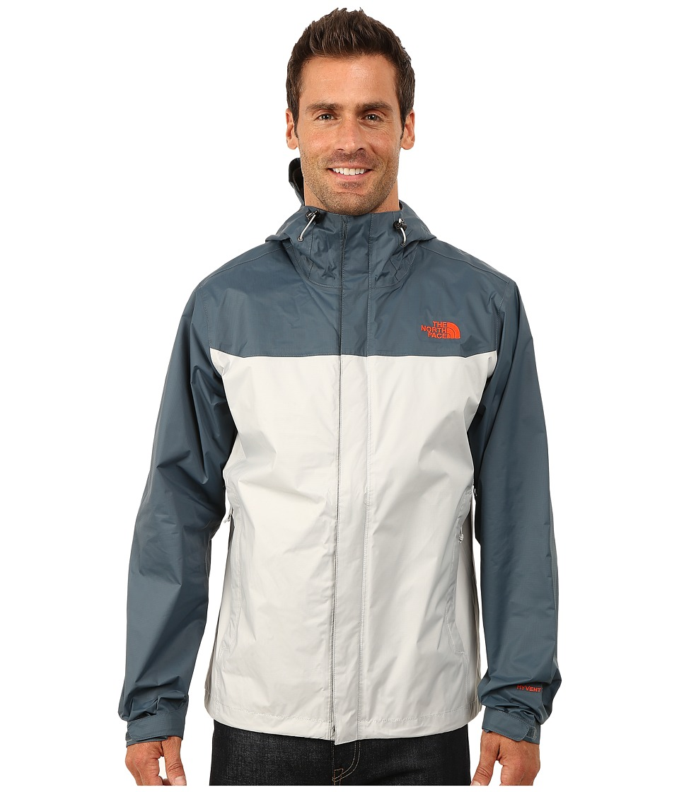 The North Face - Venture Jacket (High Rise Grey/Conquer Blue) Men's Jacket