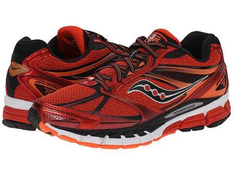 Saucony - Guide 8 (Red/Black/Orange) Men's Running Shoes