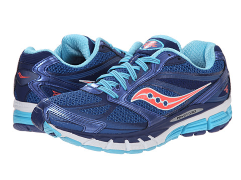 Saucony - Guide 8 (Blue/Navy/Coral) Women's Running Shoes
