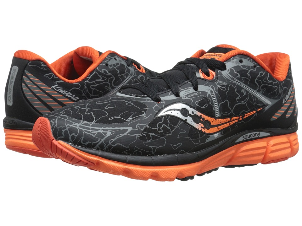 Saucony - Kinvara 6 Runshield (Black/Orange) Men's Running Shoes
