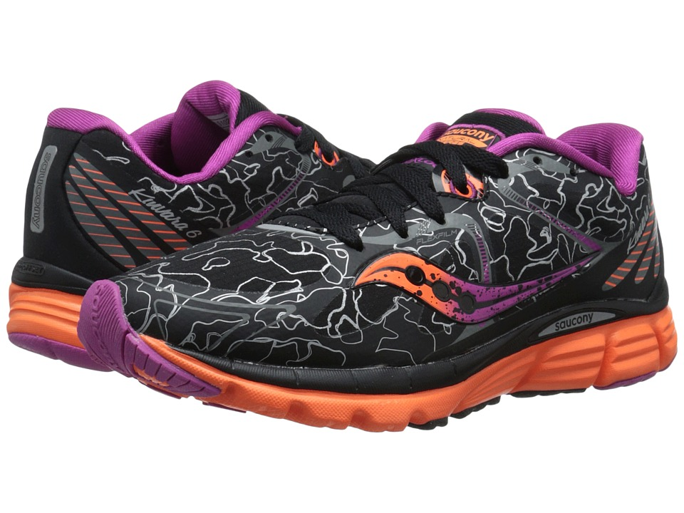 Saucony - Kinvara 6 Runshield (Black/Orange/Purple) Women