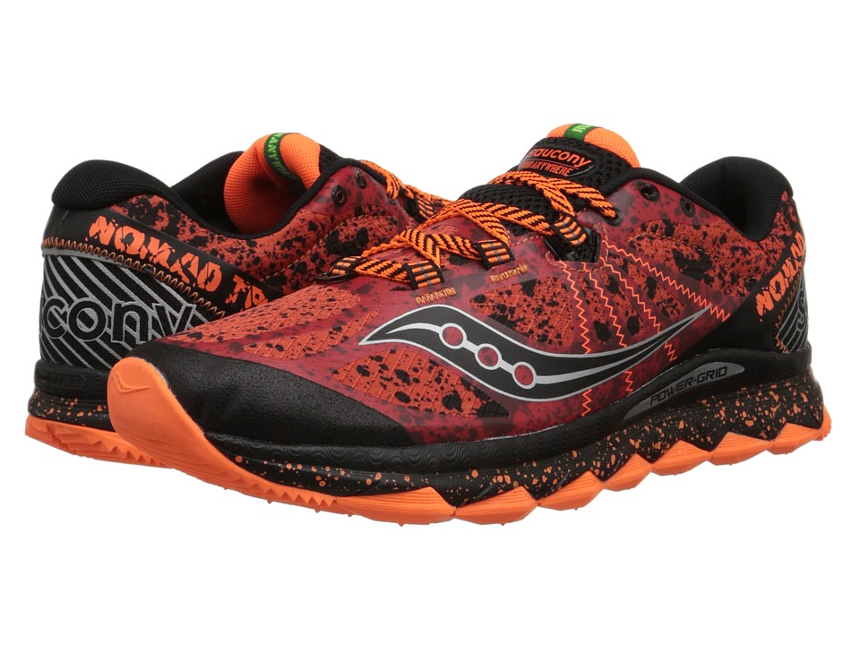 Saucony - Nomad TR (Red/Black/Orange) Men's Running Shoes