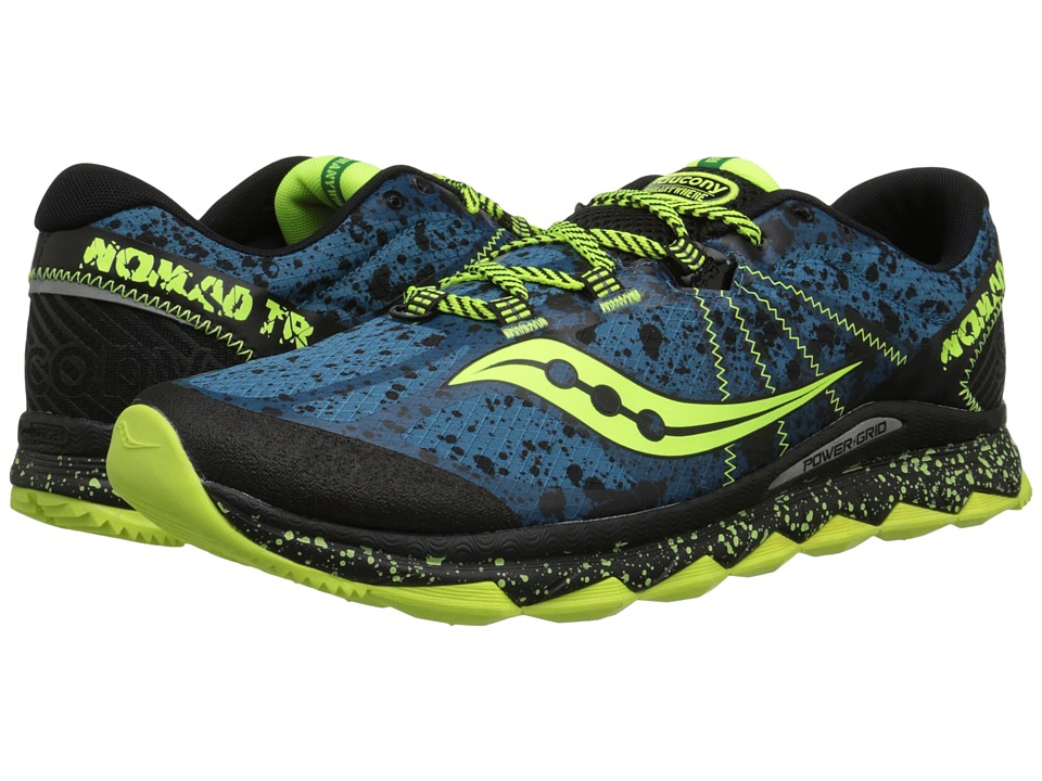 Saucony - Nomad TR (Deepwater/Citron) Men's Running Shoes
