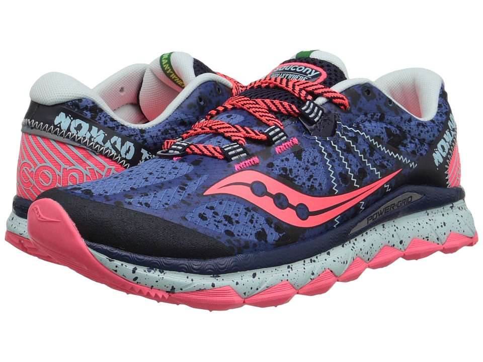 Saucony - Nomad TR (Blue/Navy/Coral) Women's Running Shoes