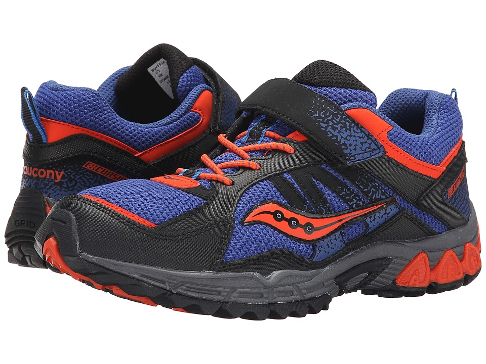 Saucony Kids - Excursion A/C (Little Kid) (Blue/Black/Orange) Boys Shoes