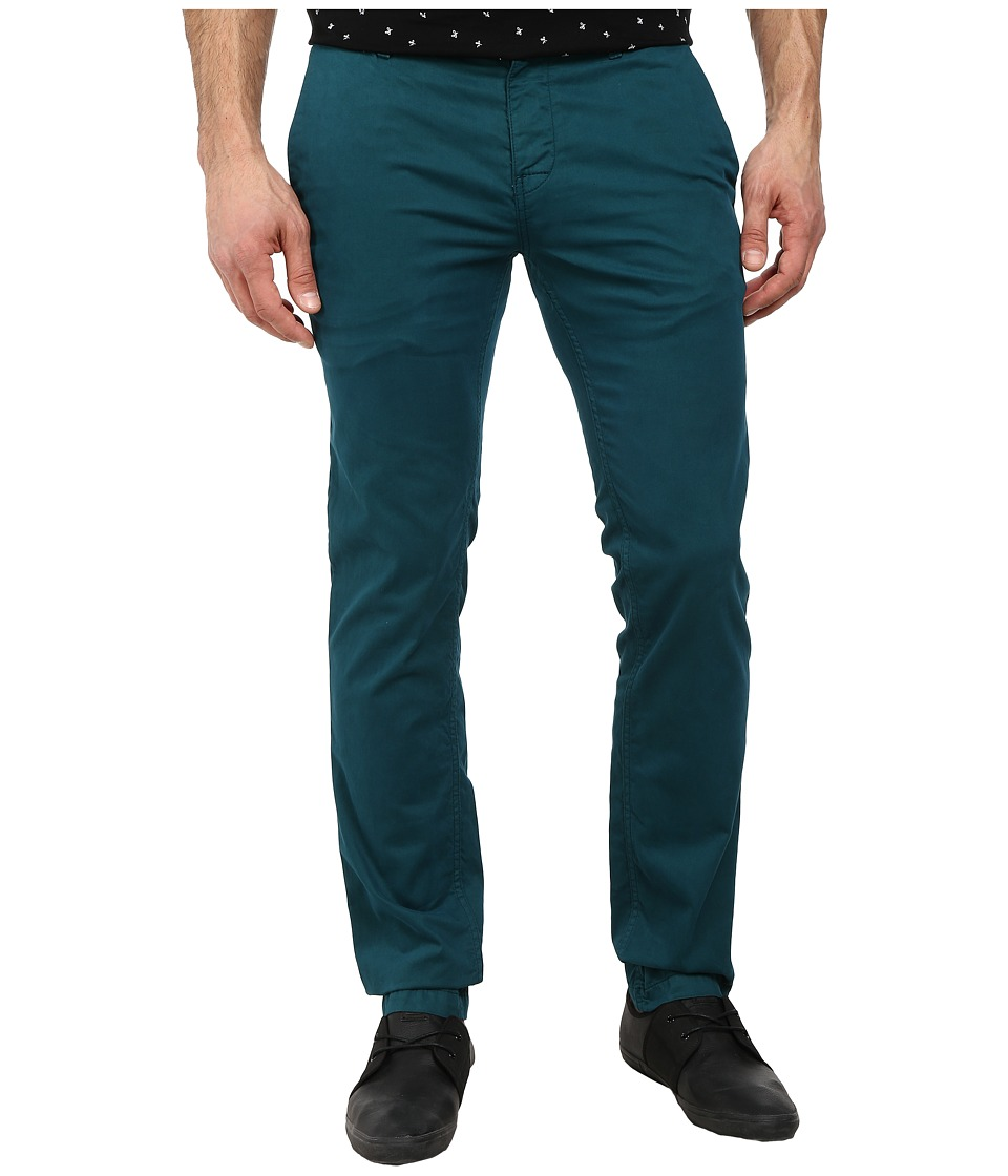 BOSS Orange - Schino-Slim 1-D Slim Fit Stretch Satin Pants (Dark Green) Men's Casual Pants