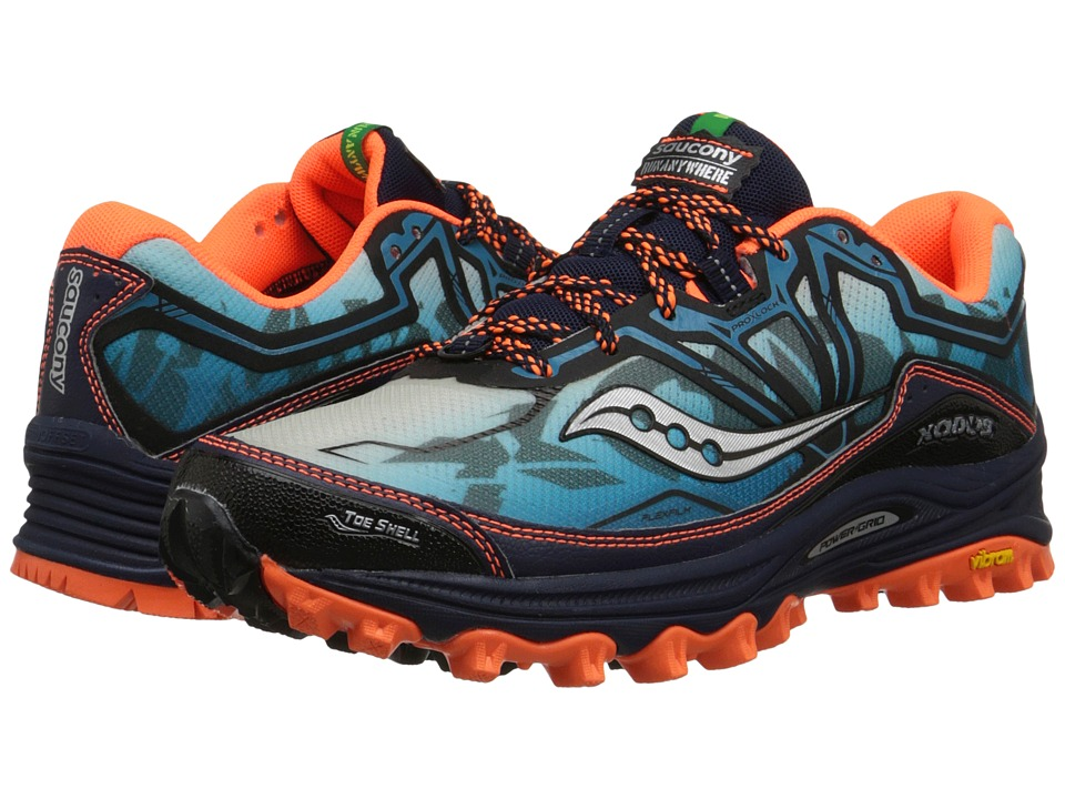 Saucony - Xodus 6.0 (Blue/Orange) Men's Running Shoes