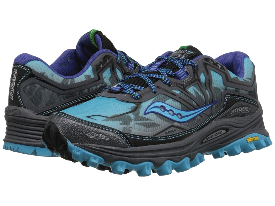 Saucony - Xodus 6.0 (Blue/Grey) Women's Running Shoes