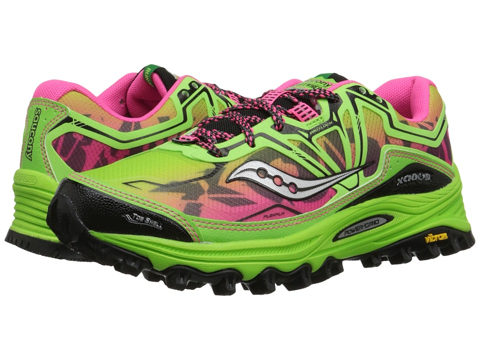 Saucony - Xodus 6.0 (Green/Pink) Women's Running Shoes