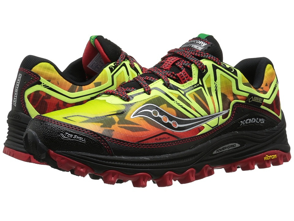 Saucony - Xodus 6.0 GTX (Citron/Red/Black) Men's Running Shoes