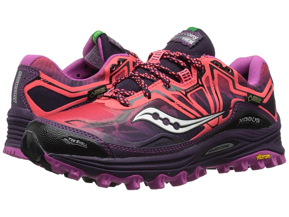 Saucony - Xodus 6.0 GTX(r) (Coral/Purple/Violet) Women's Running Shoes