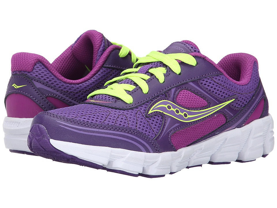 Saucony Kids - Kotaro 2 (Little Kid/Big Kid) (Purple/Berry/Citron) Girls Shoes