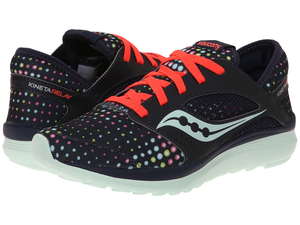 Saucony - Kineta Relay (Navy/Dots) Women's Running Shoes