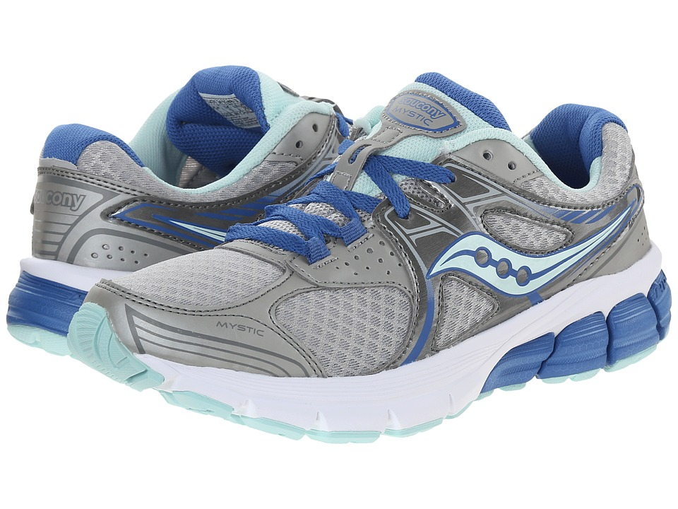 Saucony - Mystic (Grey/Blue/Aqua) Women's Running Shoes