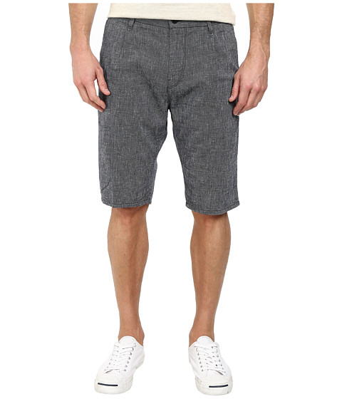 BOSS Orange - Stimo1-Shorts-W Tapered Fit Linen Cotton Canvas Shorts (Dark Blue) Men's Shorts