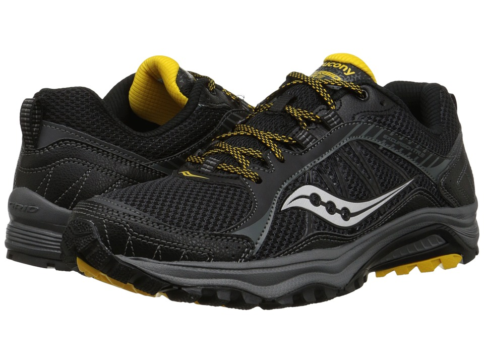 Saucony - Grid Excursion TR9 (Black/Yellow) Men's Running Shoes