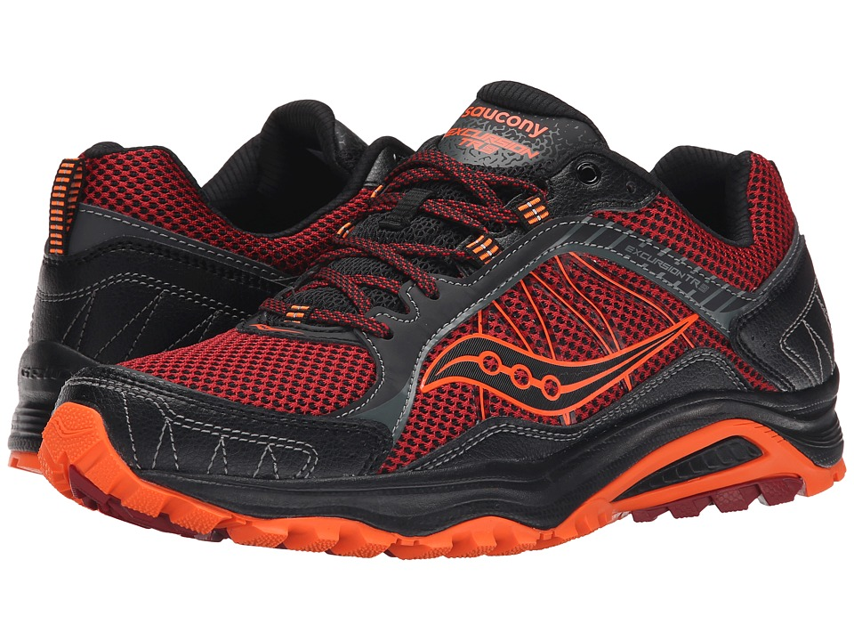 Saucony - Grid Excursion TR9 (Red/Black/Orange) Men's Running Shoes