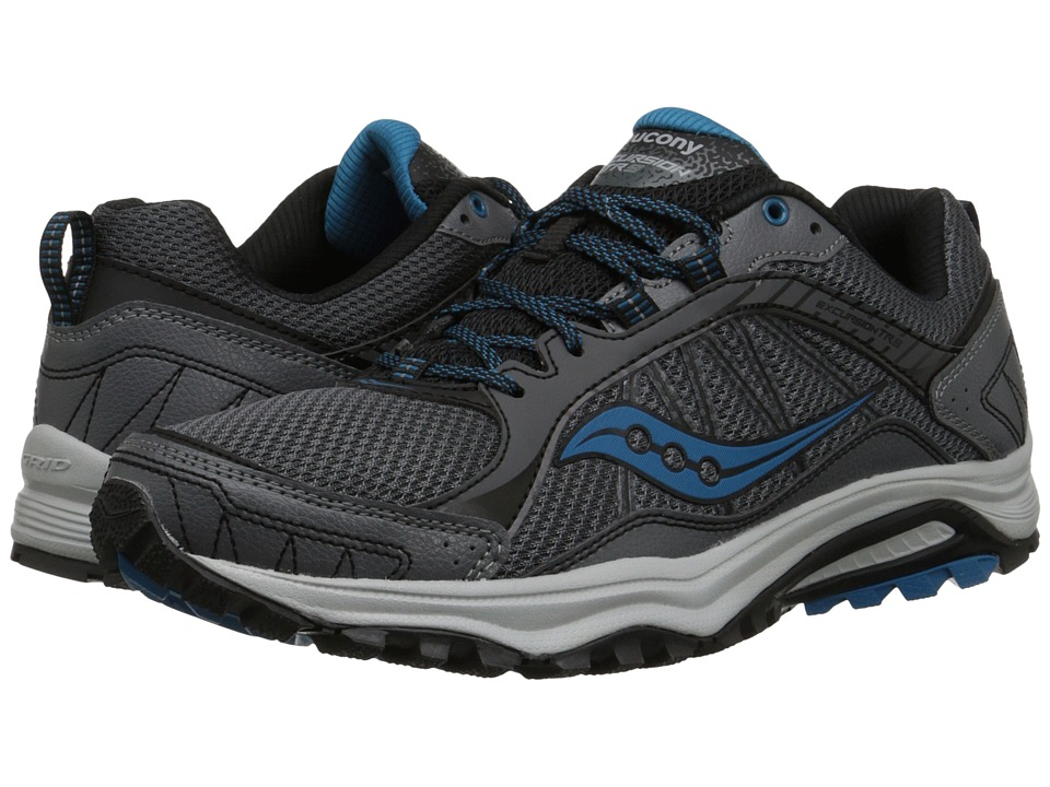 Saucony Mens Blue Grey Cohesion  Running Shoe S