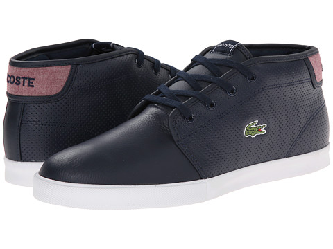Lacoste - Ampthill LIN (Dark Blue/Red) Men's Shoes