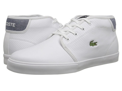 Lacoste - Ampthill LIN (White/Dark Blue) Men