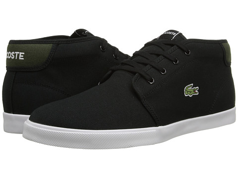 Lacoste - Ampthill WD (Black/Green) Men's Shoes