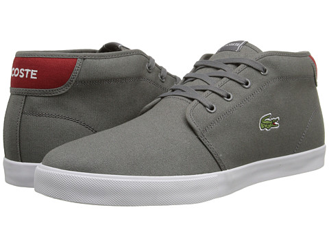 Lacoste - Ampthill WD (Dark Grey/Red) Men's Shoes