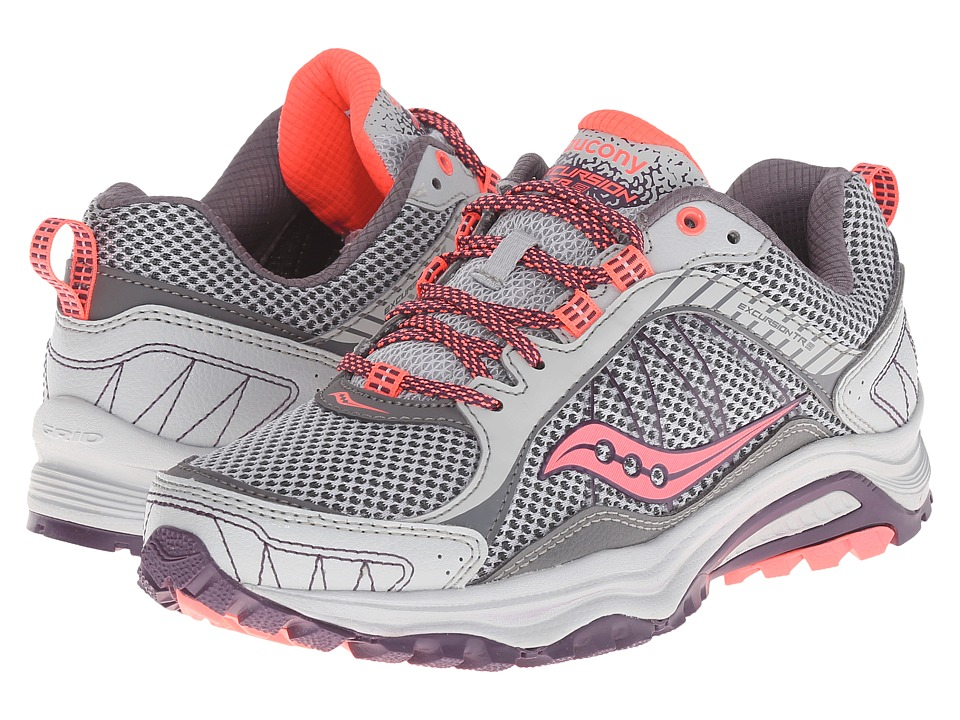 Saucony Excursion TR9 (Grey/Plum/Coral) Women